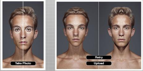 Facial symmetry upload