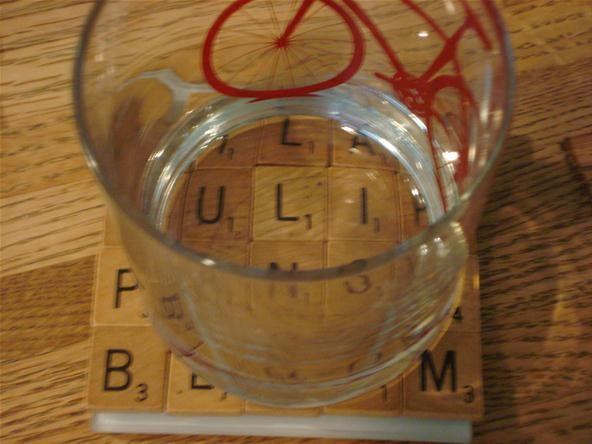 How to Make Coasters with Scrabble Tiles