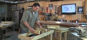Build a southern pine potting table