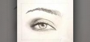 Draw a woman's eye