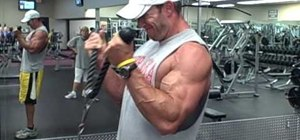 Do a finishing exercise to get bigger biceps