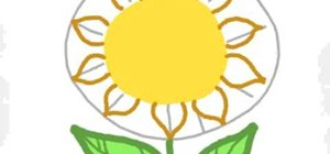 Draw a sunflower