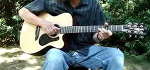 Play a C blues progression on acoustic guitar