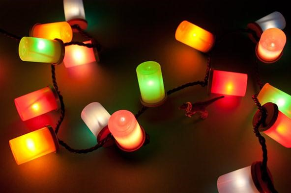 How to Create Cool Holiday Lights with Excess Film Cannisters