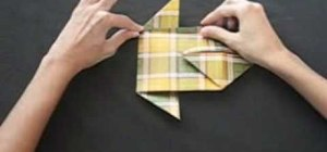 Fold a plaid origami mariposa or butterfly