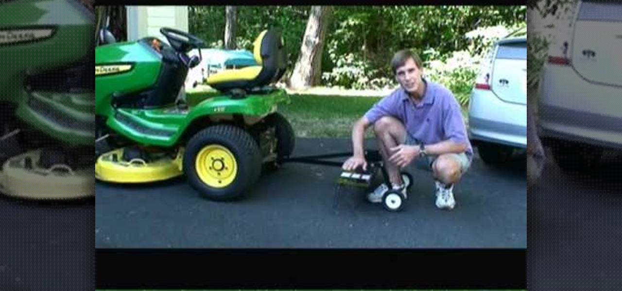 How To Use A Rear Attachment Dethatcher For Lawnmower Dethatch Lawn Gardening Wonderhowto