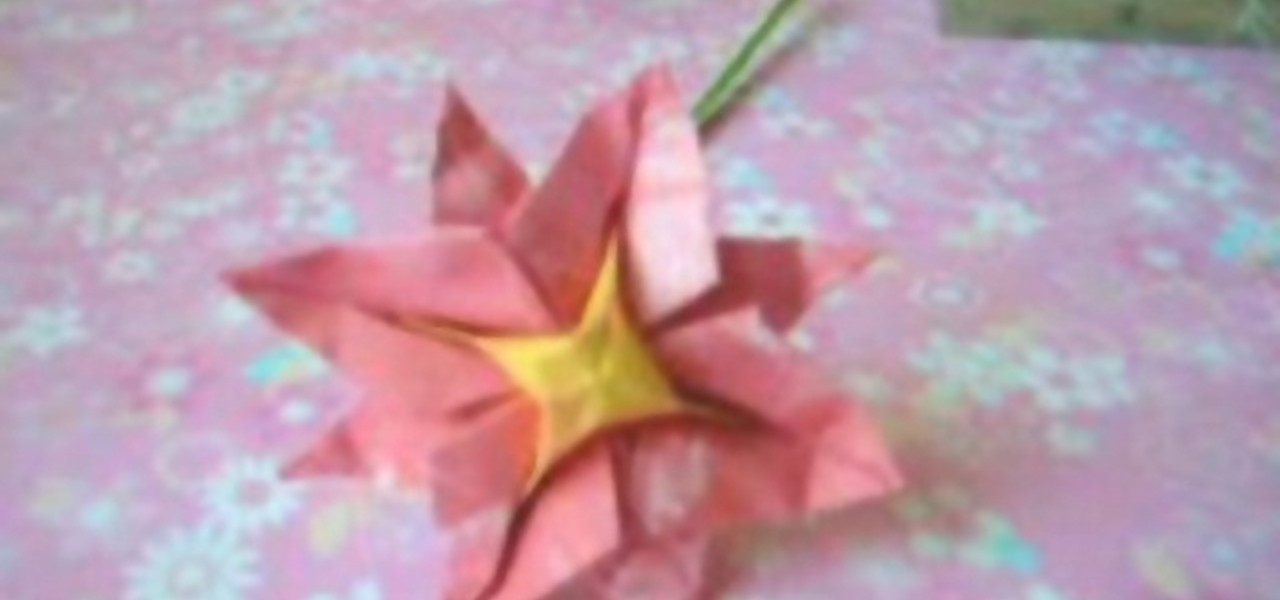 How To Origami An 8 Petal Origami Flower Origami Wonderhowto