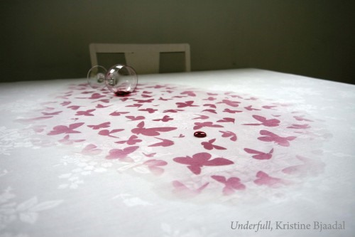 Spill-On-Purpose Tablecloth Reveals Secret Pattern