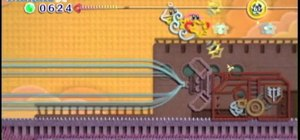 Beat the Battleship Halberd level in Kirby's Epic Yarn for the Nintendo Wii