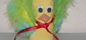 Craft a toilet paper roll bird with your kids