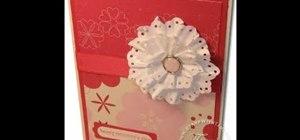 Craft a Victorian flower rosette card