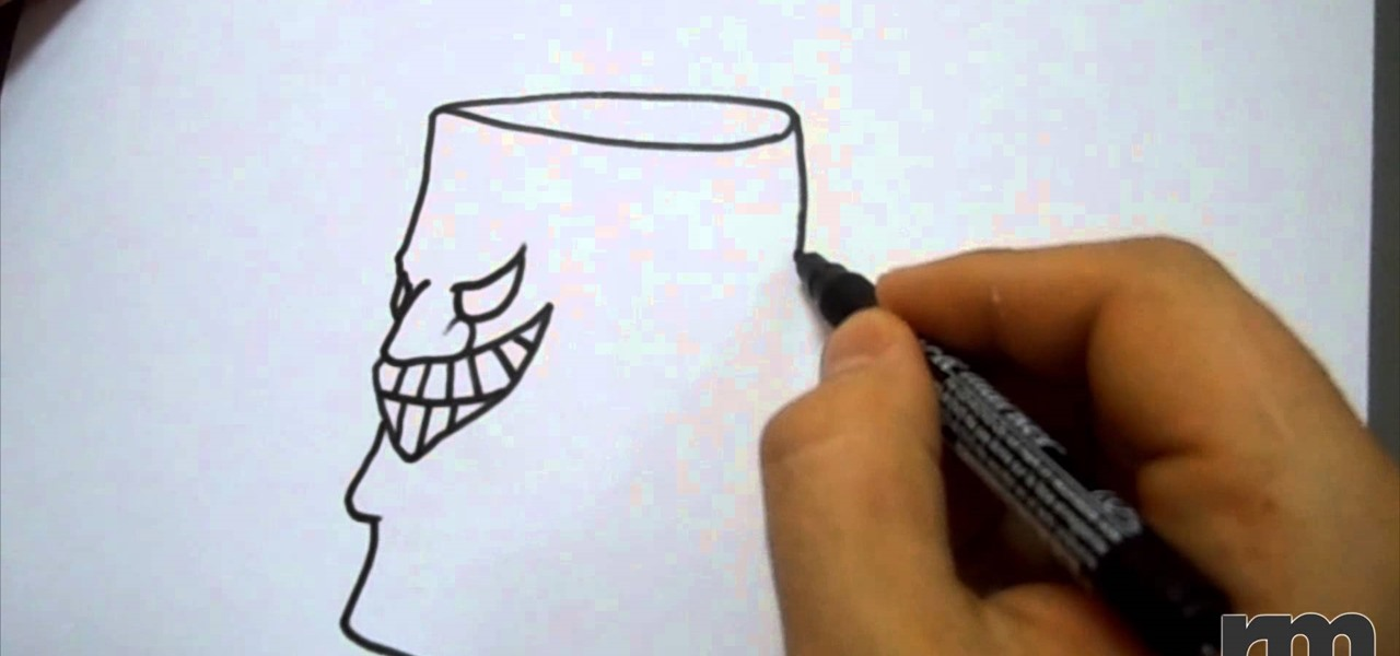 Draw an Evil Cup Face