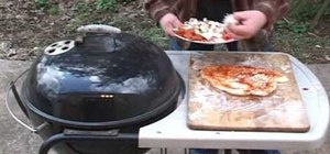 Make a brick oven pizza on the barbecue