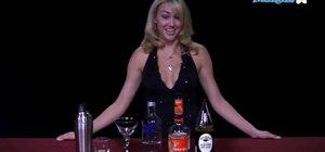 Mix a kamikaze cocktail with vodka and orange liquer