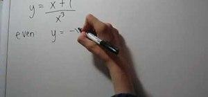 Test for symmetry algebraically