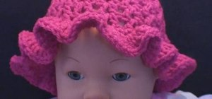 Do the right-handed version of a child crochet cap