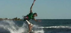 Pull a slim-chance kiteboarding trick