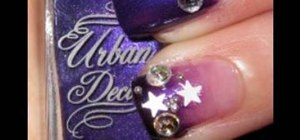 Create a New Year's purple nails look