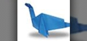 Origami a plesiosaurus Japanese style