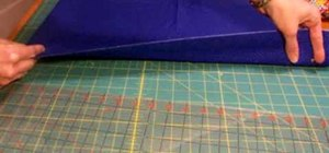 Use a rotary cutter to cut strips for quilting