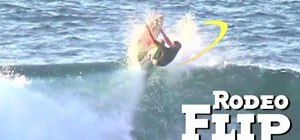 Perform the rodeo flip on a surfboard