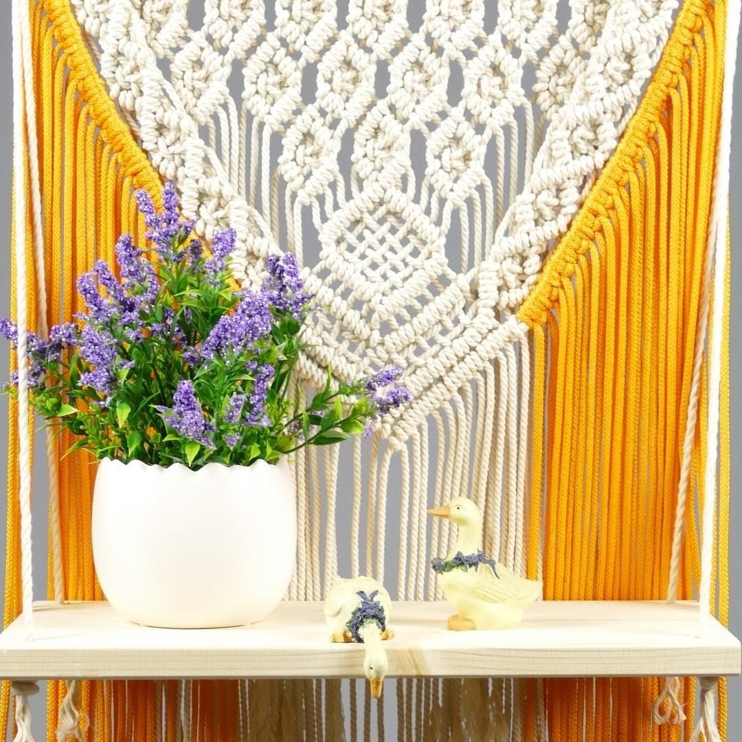 Decorative and Functional Macrame Shelf