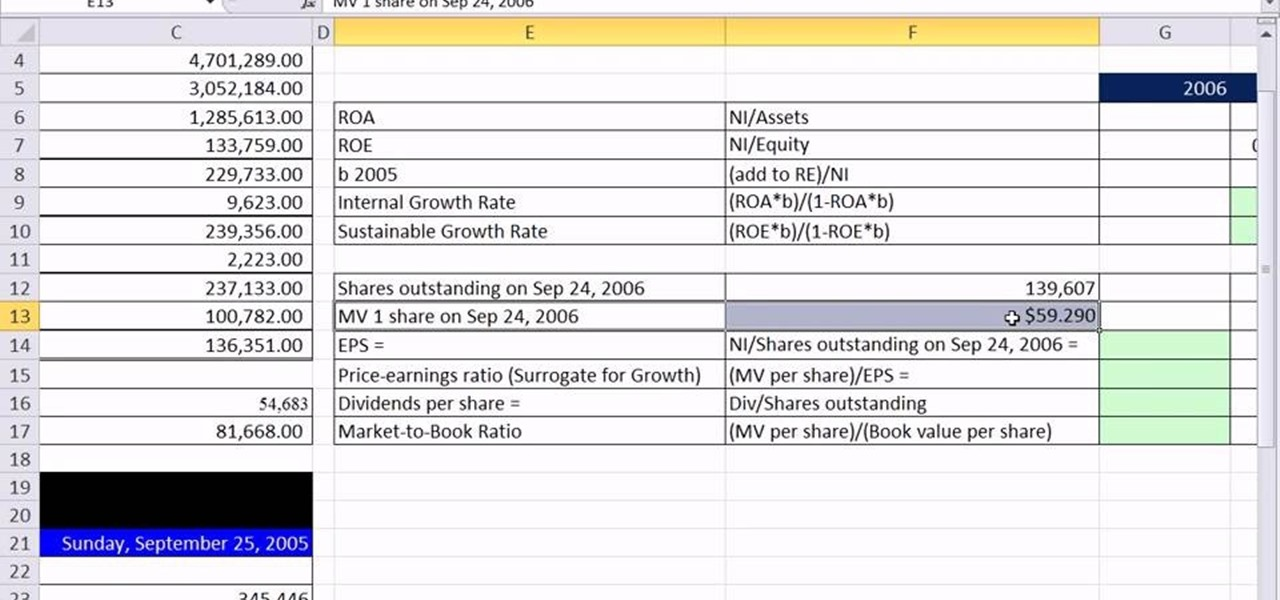 how to calculate stock return percentage