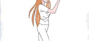 Draw Orihime Inoue from anime series, Bleach