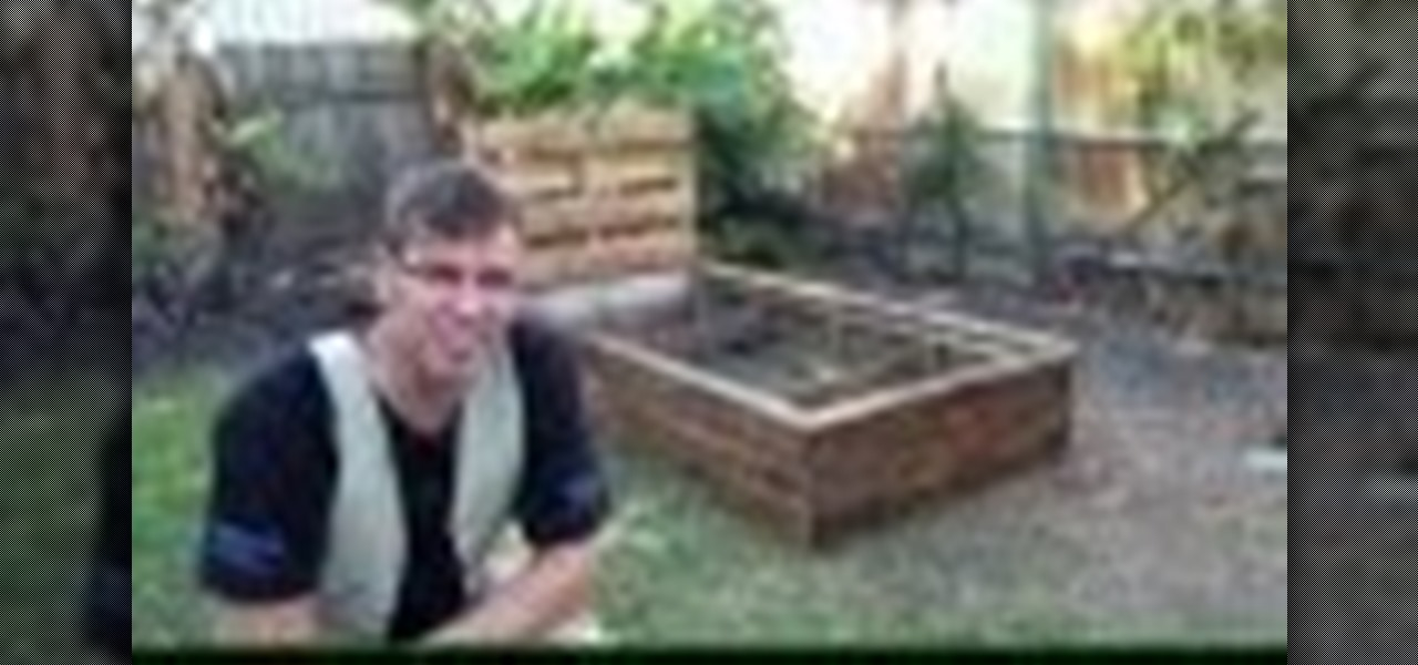 Build a Raised Garden Bed Out of Old Pallets!