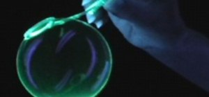 Make glowing blacklight bubbles
