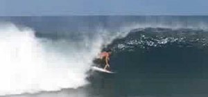 Blow The Tail with power when surfing big waves