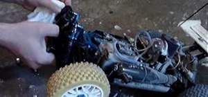 Clean an RC vehicle kit, engine and air filter