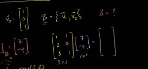 Use a change of basis matrix in linear algebra
