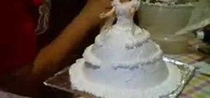 Decorate a doll cake