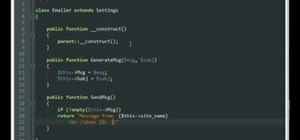 Use class inheritance with PHP OOP programming