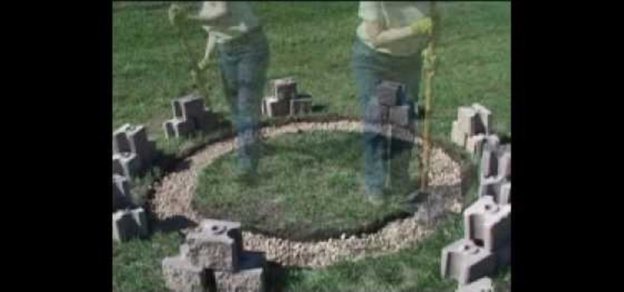 How to build a fire pit out of cinder blocks for How to build a fire pit with concrete blocks