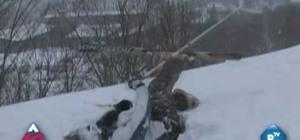 Find your lost ski in powder snow
