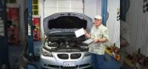 Replace an A/C cabin air filter on a BMW E60 5-series