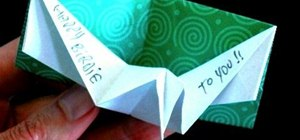 Make an origami birthday pop-up card