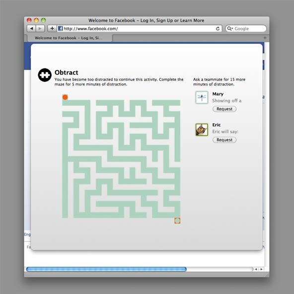 Obtract: Become More Productive by Wandering Through Mazes