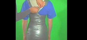 Make your own duct tape dress form