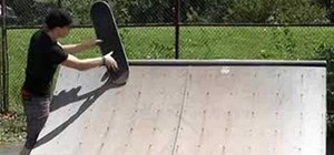 Do a bs axle fs 270 out trick on skateboard