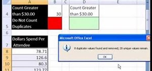 Remove duplicate entries with Excel's COUNTIF function