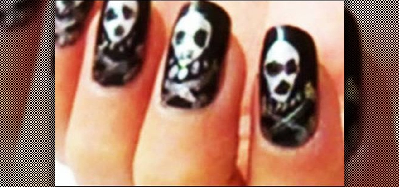 How to Create Halloween inspired skull nails « Nails & Manicure
