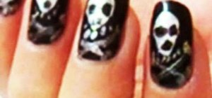 Create Halloween inspired skull nails