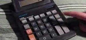 Calculate percentage with a calculator