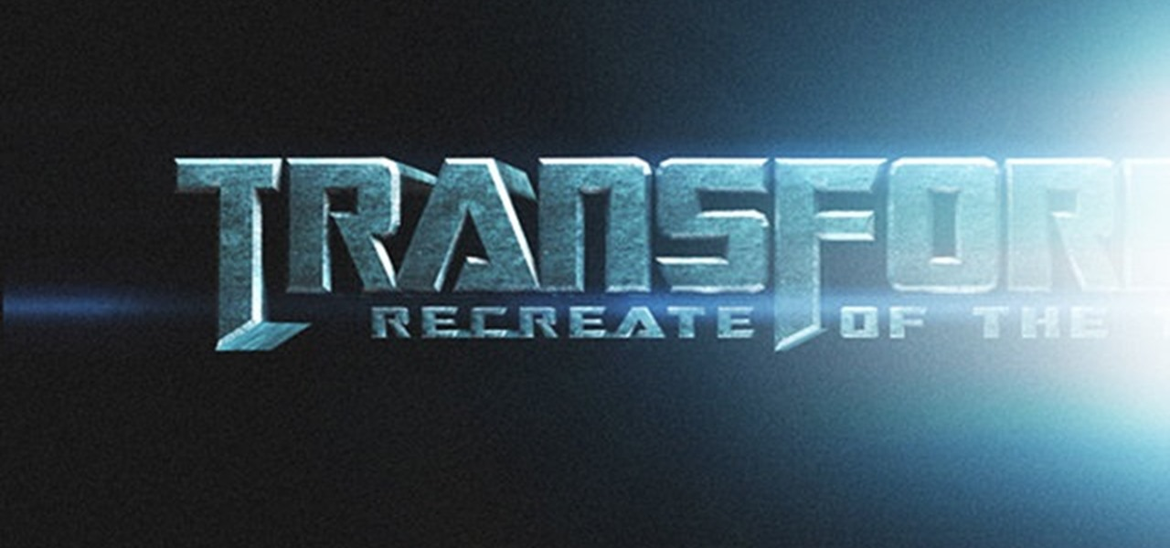 How to Create Transformers-style movie titles in Cinema 4D