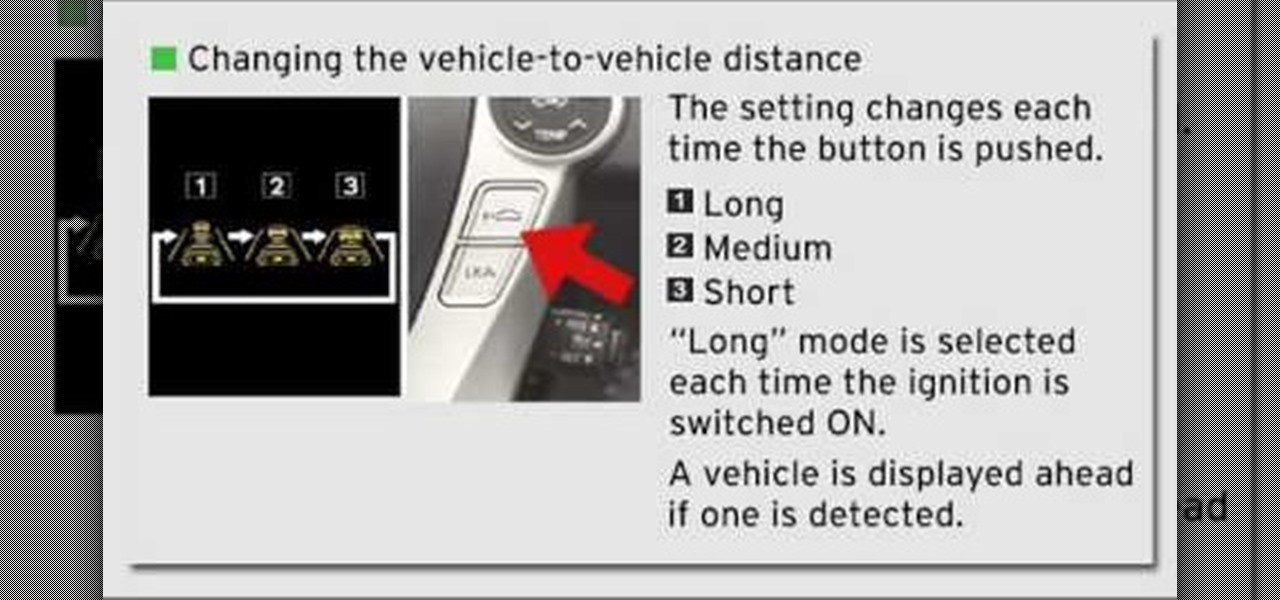 How To Operate Dynamic Radar Cruise Control In The 2010 Toyota Prius Driving Safety Wonderhowto