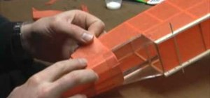 Repair any damages to your flying model airplane