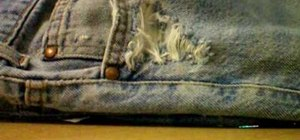 Destroy denim with household items